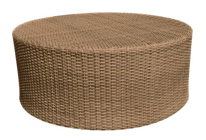 Saddleback Round Tail Wicker Rattan Coffee Table