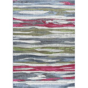Ceasar Contemporary Pink/Gray Area Rug