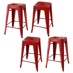 Loft Metal 24 Bar Stool (Set of 4) AmeriHome