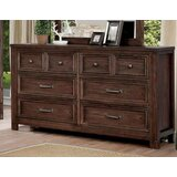 Caitlyn 8 Drawer Double Dresser with Mirror by Rosalind Wheeler