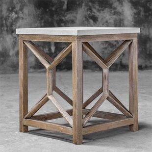 Niemann Stone End Table by Brayden Studio