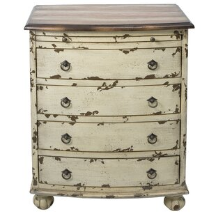 Lauier Distressed Two Tone 4 Drawer Accent Chest by August Grove