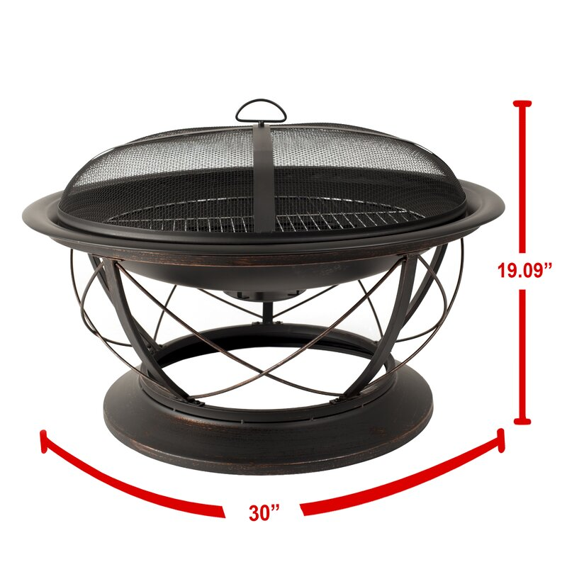 Prime Palmetto Steel Wood Fire Pit Download Free Architecture Designs Lectubocepmadebymaigaardcom