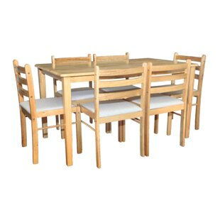 Damore Dining Set With 6 Chairs By Natur Pur