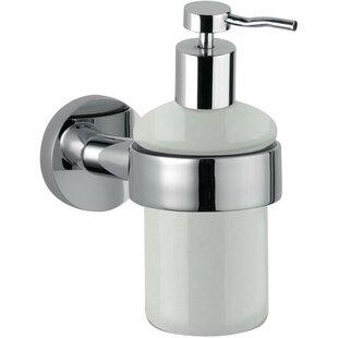 Orren Ellis Sonny Wall Mounted Ceramic Soap & Lotion Dispenser