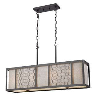 Seman 4-Light Rectangle Pendant by Gracie Oaks
