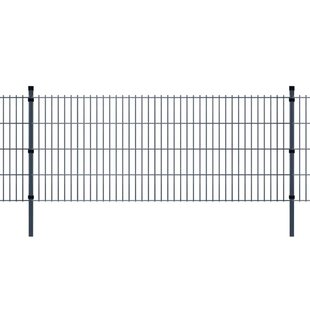 Debby 2D 26' X 7' (8m X 2.23m) Picket Fence Panel By Sol 72 Outdoor