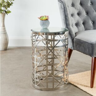 Lauver Cylinder Side Table by Everly Quinn Best Design