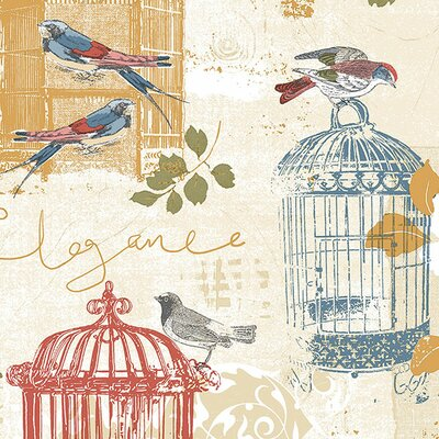 """Kitchen Elements 32.7' x 20.5"""" Victorian Birdcage Wallpaper Norwall Wallcoverings Inc Color: Primary"""