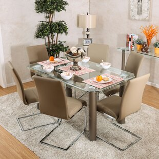 Heredia 7 Piece Dining Set Latitude Run