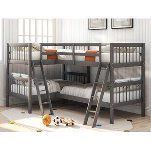 Pettey Twin LShaped Bunk Bed by Harriet Bee