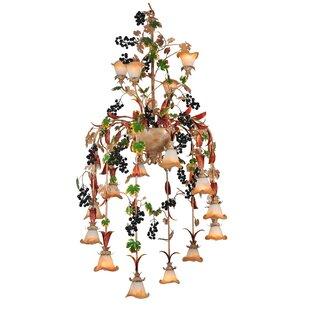 Meyda Tiffany Symphony Grape 16-Light Shaded Chandelier