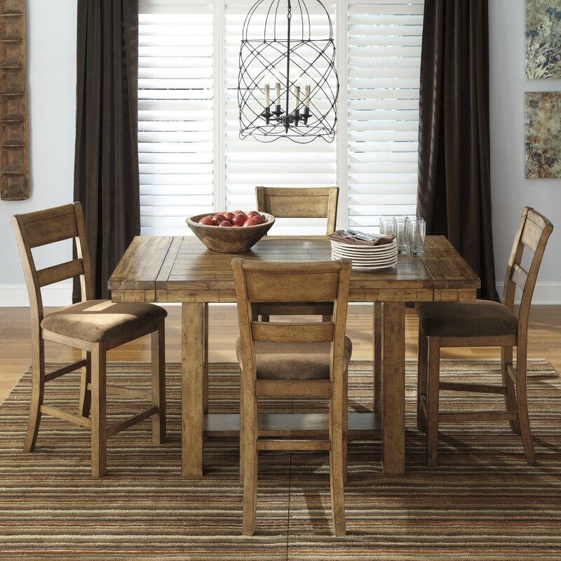 Kristoff Counter-Height Extendable Dining Table & Reviews | Joss ...