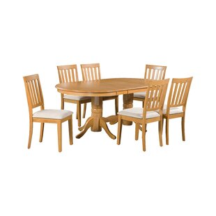 Schacht 7 Piece Extendable Solid Wood Dining Set by Winston Porter Coupon