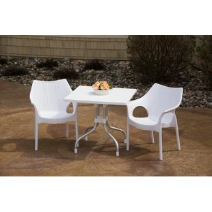 Brayden Studio Slezak Patio 3 Piece Bistro Set