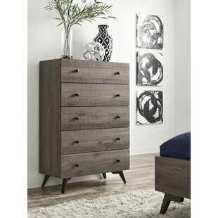 Boydston Wooden 5 Drawer Chest