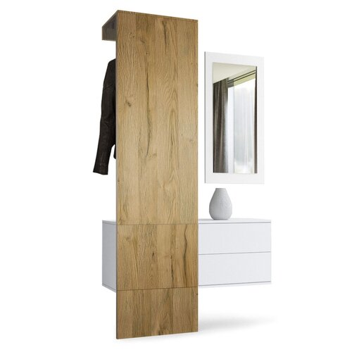 3-tlg. Garderoben-Set Carlton Set 2 | Flur & Diele | Eichefarben nordic | Holzwerkstoff | VladonMoebel