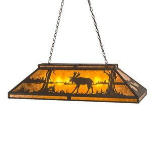 Meyda Tiffany Moose at Lake 9-Light Billiard Light