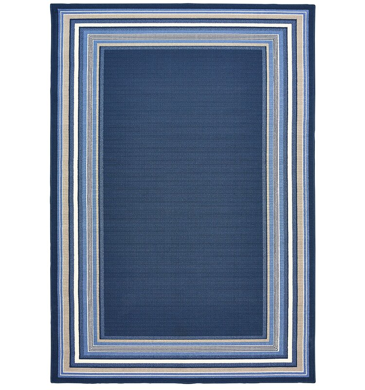 Hadiya Navy Blue Indoor Outdoor Area Rug Reviews Birch Lane
