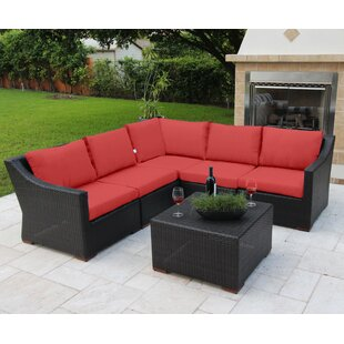 Marcelo 6 Piece Sunbrella Sectional Set with Cushions By Bellini Home and Garden