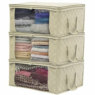 Great choice Bamboo Fiber Clothing Storage General Organizer (Set of 3) By Sorbus