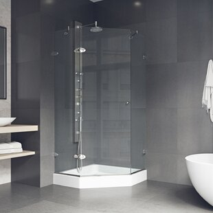 Verona 36 x 73.75 Neo-Angle Hinged Shower enclosure with Base Included By VIGO