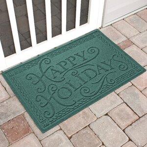 Happy Holidays Outdoor Doormat