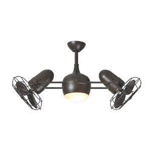Affordable Price 39 Valerian 6-Blade Dual Ceiling Fan with Wall Remote By 17 Stories