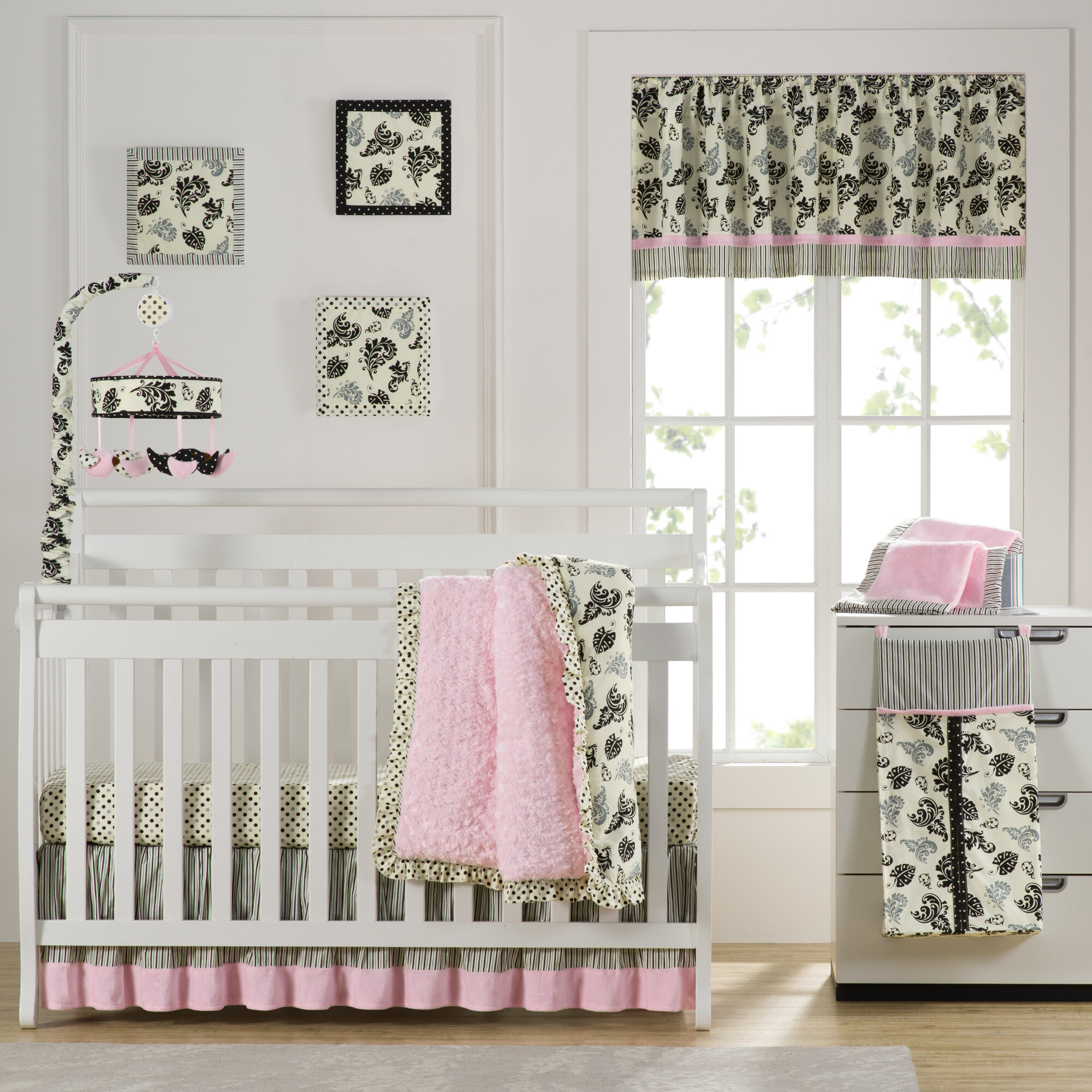Laugh Giggle Smile Versailles Pink 10 Piece Crib Bedding Set Reviews Wayfair