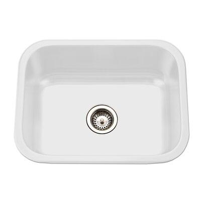 Porcela 22 76 X 17 4 Porcelain Enamel Steel Undermount Single Kitchen Sink