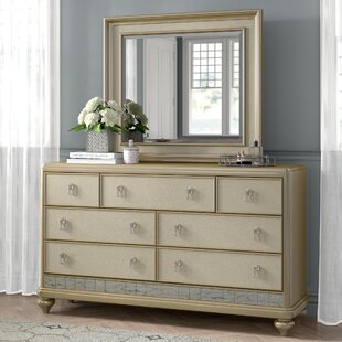 Desirat 7 Drawer Dresser with Mirror