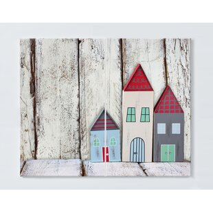 Houses Motif Magnetic Wall Mounted Cork Board By Ebern Designs
