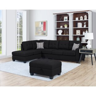 Ebern Designs Baret Reversible Sectional ..