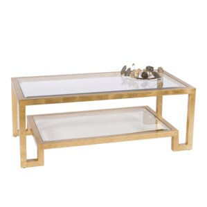 Worlds Away 2 Tier Coffee Table with Magazine Rack Image