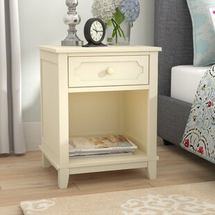 Cynthia 1 Drawer Nightstand Three Posts