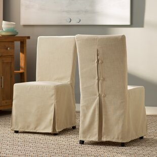 Beachcrest Home Willa Slipcover Upholstered Dining Chair (Set of 2)