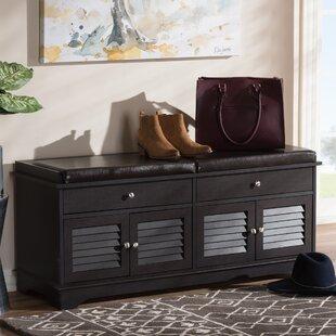 Pierce 2 Drawer Shoe Wood Storage Bench