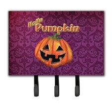 Hello Pumpkin Halloween Leash Holder and Key Hook by Caroline's Treasures