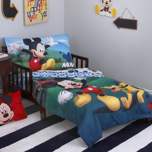 mickey mouse playhouse 4 piece toddler bedding set - Toddler Bed Sets
