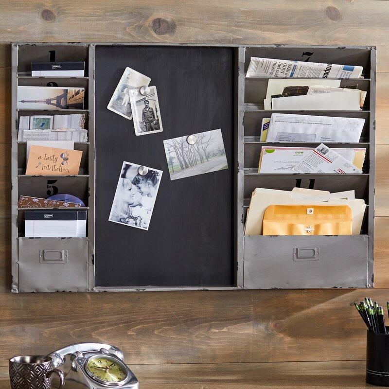 Cloey 36 x 24 x 2 in. Industrial Mail Sorter Chalkboard