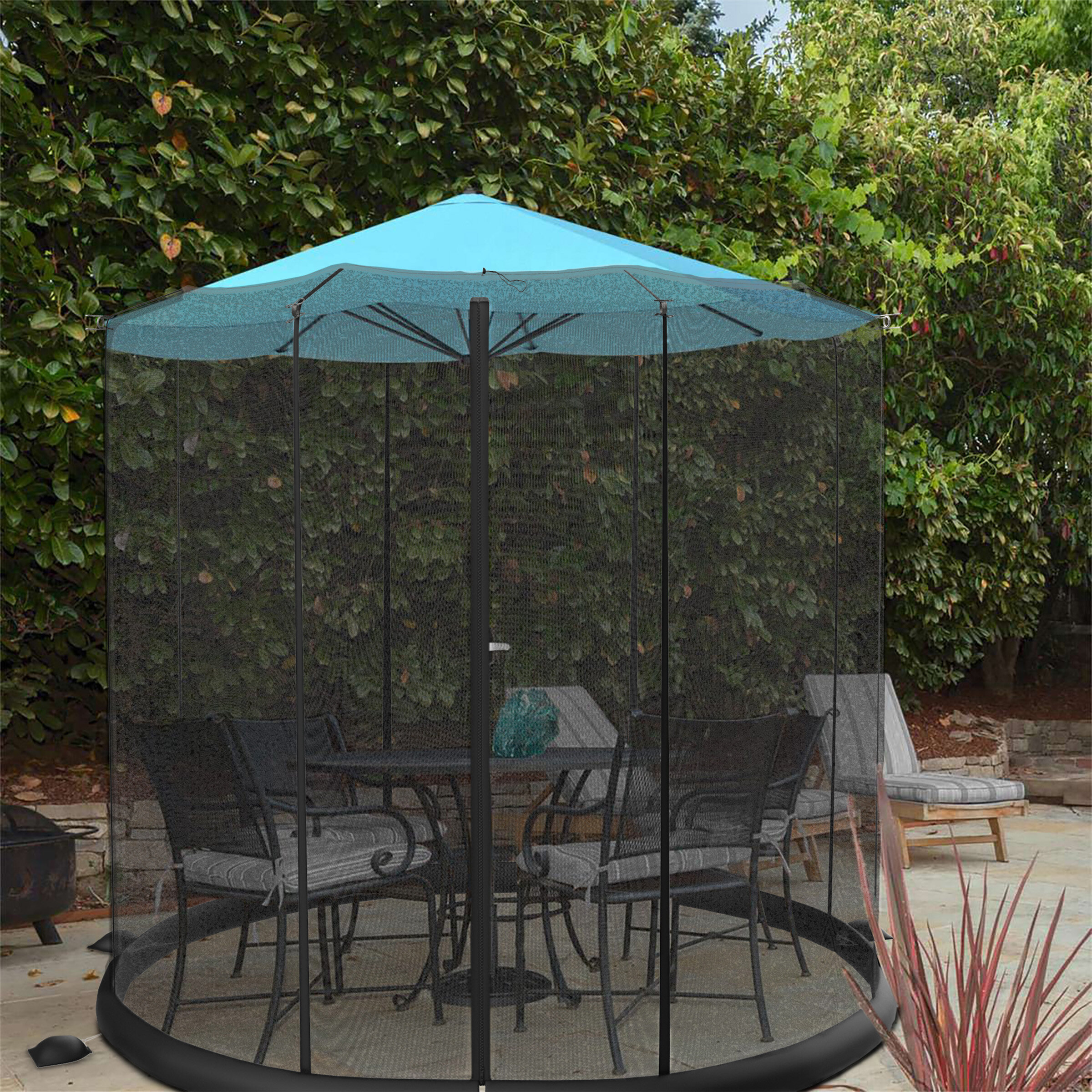 Symple Stuff Hartwig Patio Umbrella Mosquito Netting Reviews