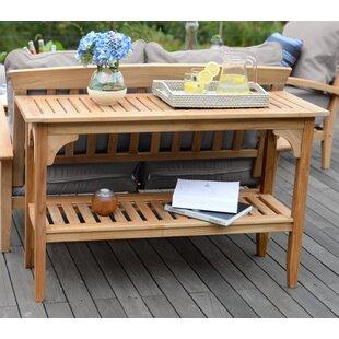Summerton Console Table & Summerton Teak Storage Box | Wayfair