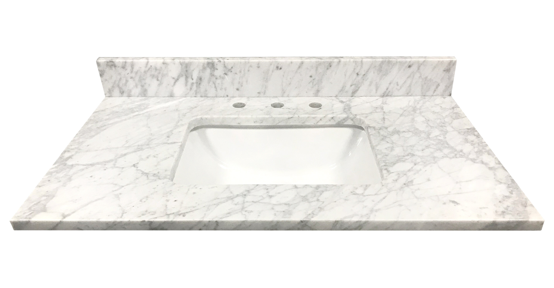 Tile Top Bianco Carrara Marble 37