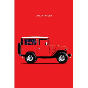'1977 Toyota Land Cruiser FJ40' Graphic Art Print on Canvas By East Urban Home