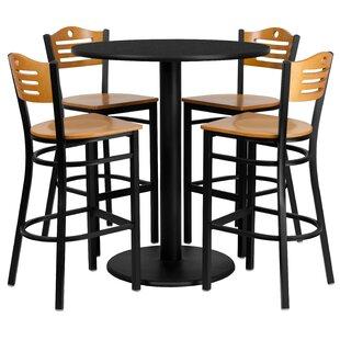 Arnab 5 Piece Pub Table Set by Red Barrel Studio