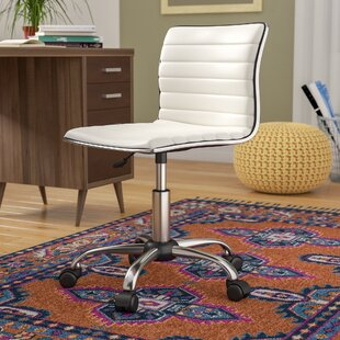 Review Shrum Chrome Adjustable Air Lift Office Mid-Back Desk Chair by Wrought Studio