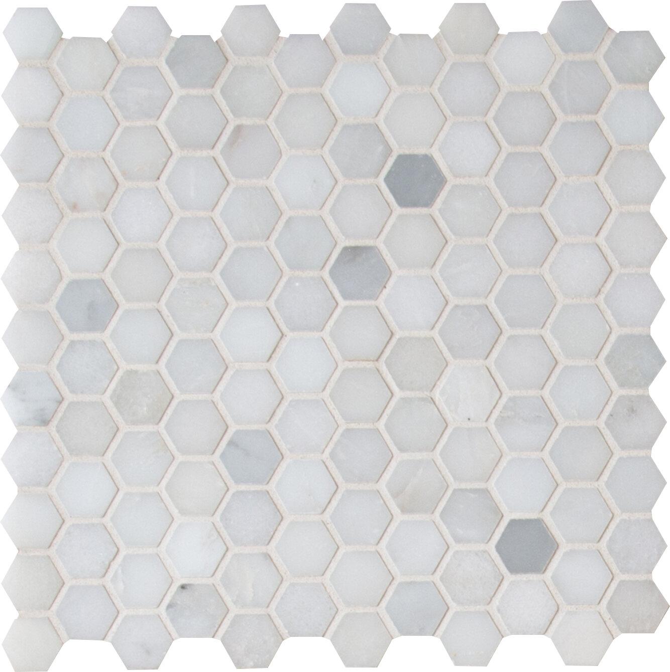 Belmont 1 X 1 Marble Mosaic Tile Reviews Allmodern