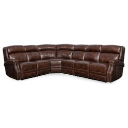 carlisle leather reclining sectional