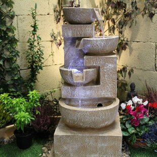 Sparkling Bowls Resin Water Feature With Light By Sol 72 Outdoor
