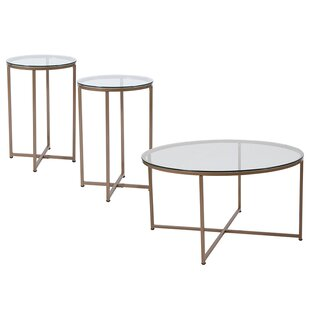 Mercer41 Gaener 3 Piece Coffee Table Set